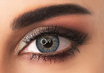 ADORE lentes de contacto de colores - color AZUL CLARO - TRI LIGHT BLUE– tres tonos - de media/alta cobertura - 90 Días - Sin Graduación + estuche incluido: Amazon.es: Salud y cuidado personal