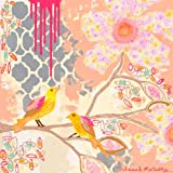 Oopsy daisy, Fine Art for Kids Sweet Peony Stretched Canvas Art by Jennifer McCully, 21 by 21-Inch