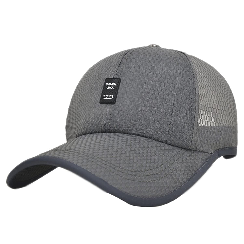 Men Snapback Quick Dry Baseball Race Day Running Summer Sea Mesh Hat Cap Visor