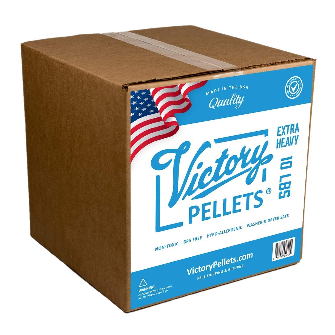 Victory Pellets Extra Heavy (10 LBS) Plastic Poly Pellets for Weighted Blankets, Vests, Cornhole Bags, Bean Bag Toss Bags, Reborn Dolls, Plush Toys, Draft Stoppers & Sensory Lap Pads. Made in USA. by Victory Pellets