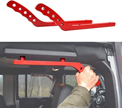 Black Pair American 4wheel Jeep Wrangler Grab Bar Grab Handles Door Handle Rear Grab Handle Jeep Wrangler Accessories JK JKU /& Unlimited Rubicon Sahara Sports,2007-2018,New Aluminum