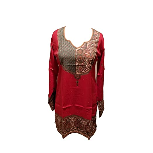 9b26dfefb66 Image Unavailable. Image not available for. Color  T235XL Indian Tunic Top  Womens Kurti Printed Blouse India Clothing