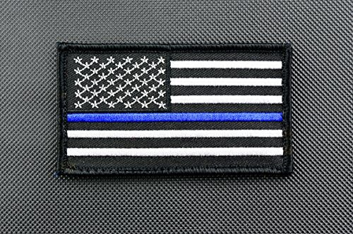 Thin Blue Line United States Flag 3.5