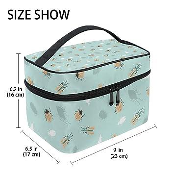 db0ac35566cc Dragon Sword Ladybug Party Cosmetic Toilet Bag for ... - Amazon.com