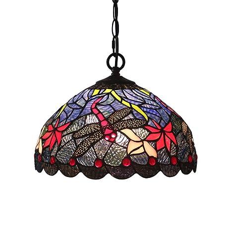 XNCH Estilo de Tiffany araña Lámpara de Suspensión Europea ...