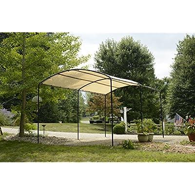 ShelterLogic Monarc Canopy, Sandstone, 10 x 18 ft. : Garden & Outdoor