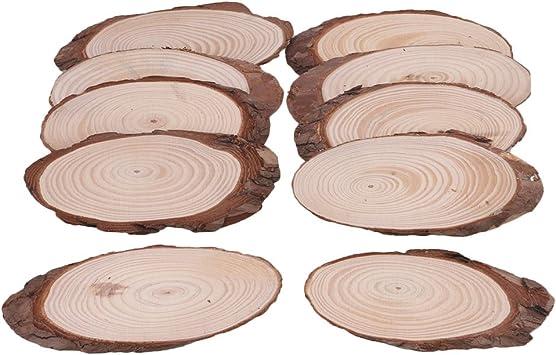 aliso 5 x disco de árbol 20 x 3 CM disco de madera