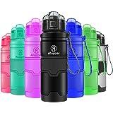 Bottiglie di Acqua Tritan Bottiglia per Bambini/Adulti- a Prova di perdite, con Filtro, Coperchio Superiore Flip, Pop Apre con 1-Click - Riutilizzabile, Senza BPA