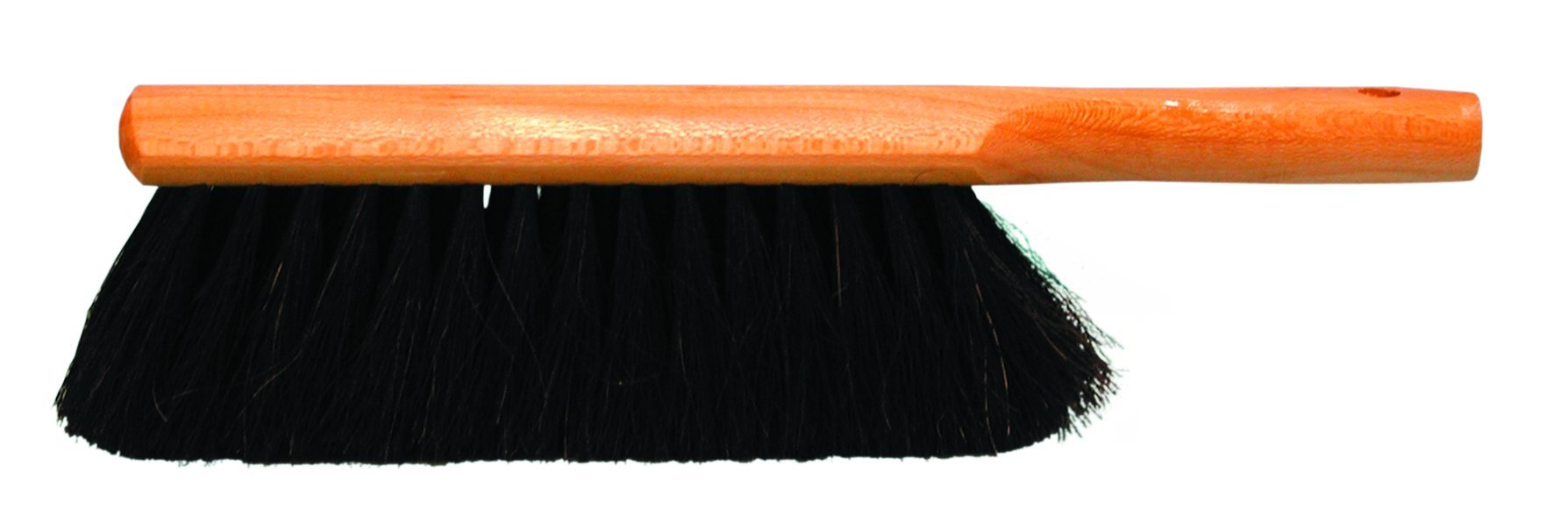Magnolia Brush 54 Horsehair Beaver-Tail Counter Duster, 2-1/2'' Trim, 13-1/2'' Overall Length, Black (Case of 12)