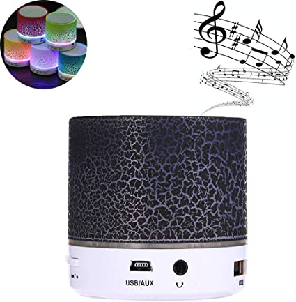Bluetooth Speaker Wireless LED Colorful Portable Speaker Supporting TF Card//USB//FM with Colorful Light for iPhone Ipad Android Smartphone Green