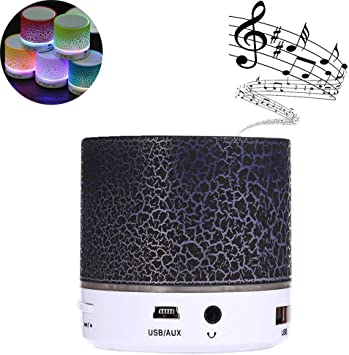 Altavoz Bluetooth Portátil Altavoces,Con Radio FM Micrófono Puerto USB AUX Para iPhone Android Smartphone Tablet PC Ordenador MicroSD U disco y Dispositivos Bluetooth de Audio(Negro): Amazon.es: Electrónica