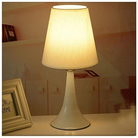 HW.Q Lámpara de mesa, lámpara de sobremesa de madera maciza ...