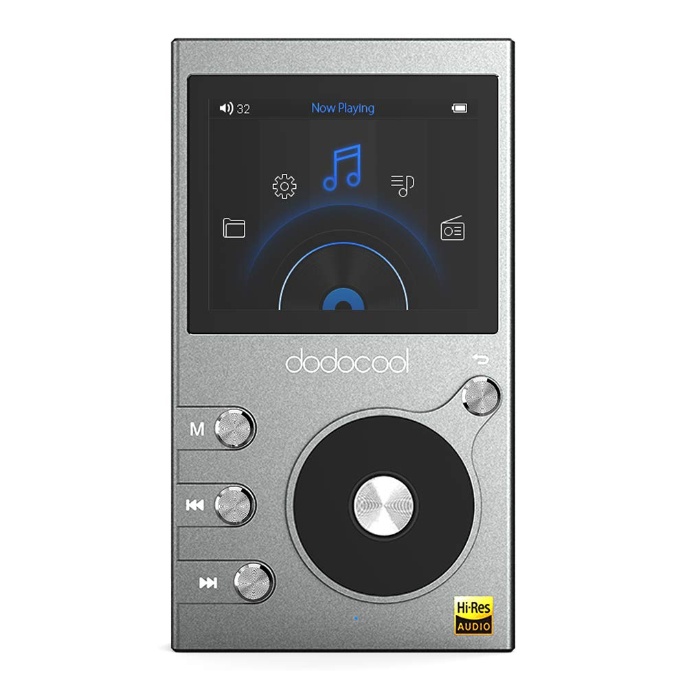 Hi Res Music Player, dodocool HiFi Music Player High Resolution 8GB MP3 Player Audio Digital Lossless Sound with Voice Recorder/FM Radio
