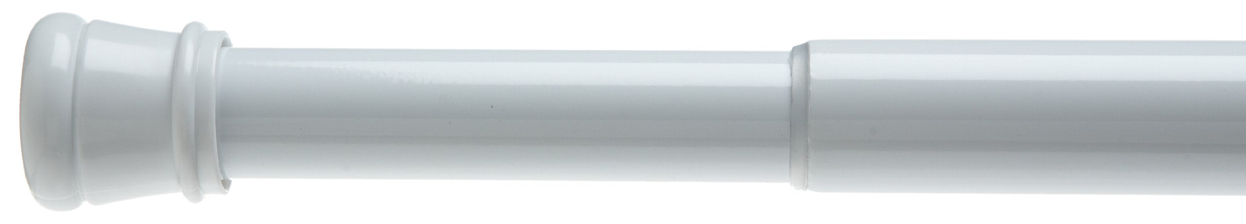 Carnation Home Fashions Adjustable 41-to-72-Inch Steel Shower Curtain Tension Rod, White