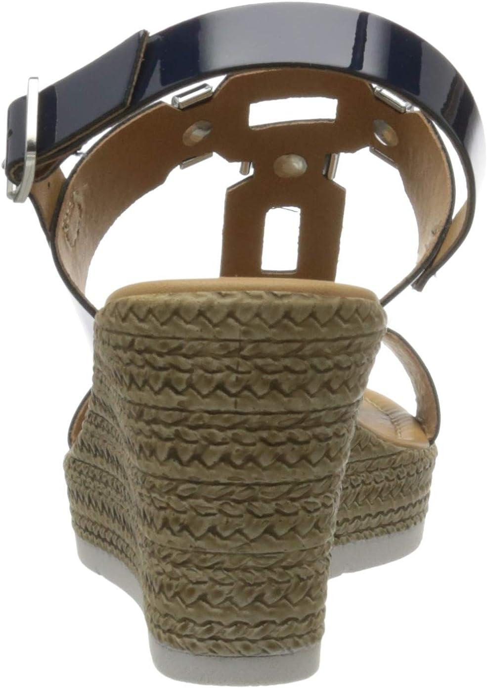 MARCO TOZZI 2-2-28355-24, Sandali con Cinturino alla Caviglia Donna Blu Navy Patent 826 l31kv2