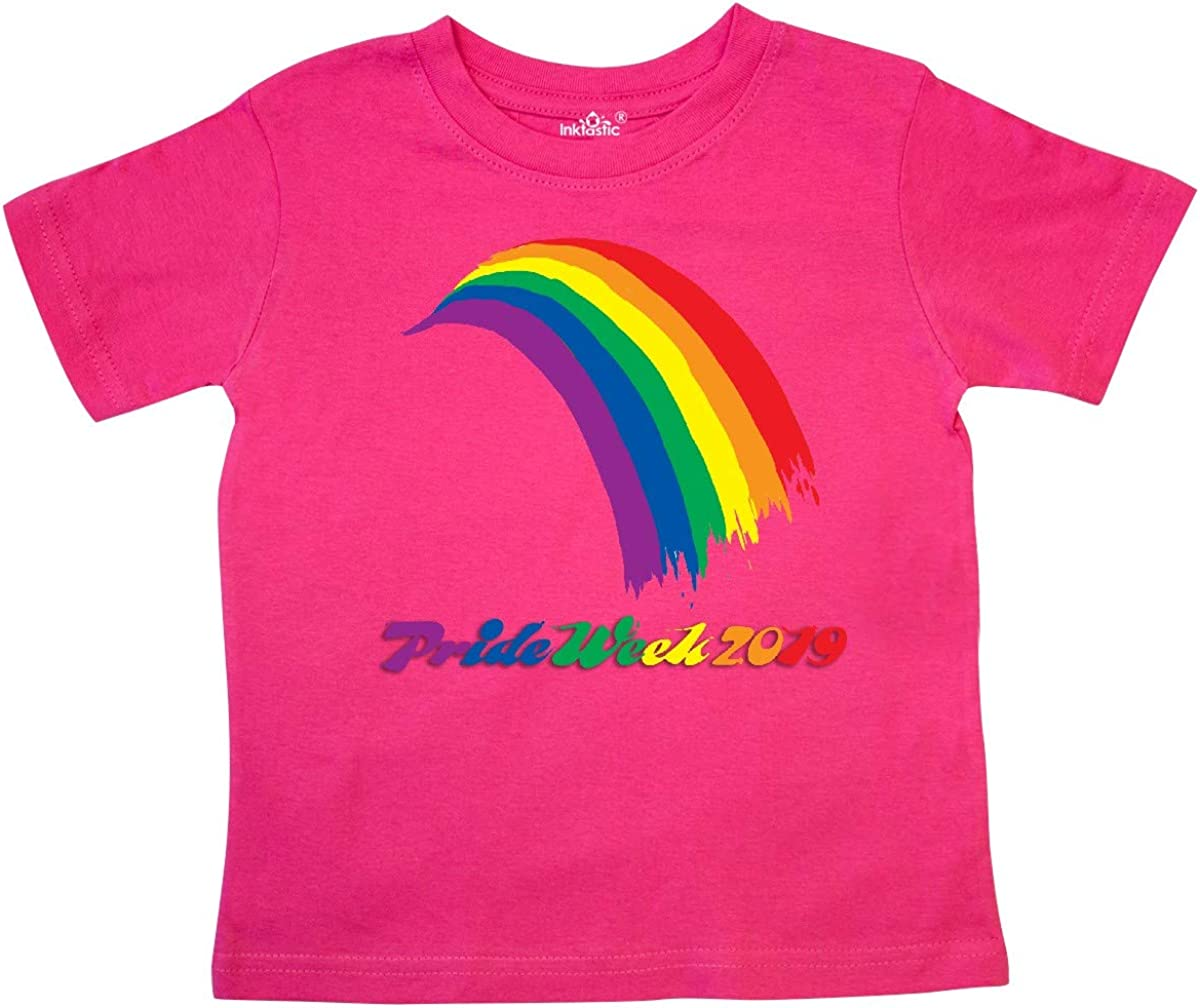 inktastic Painted Rainbow for Pride Week 2019 Toddler T-Shirt