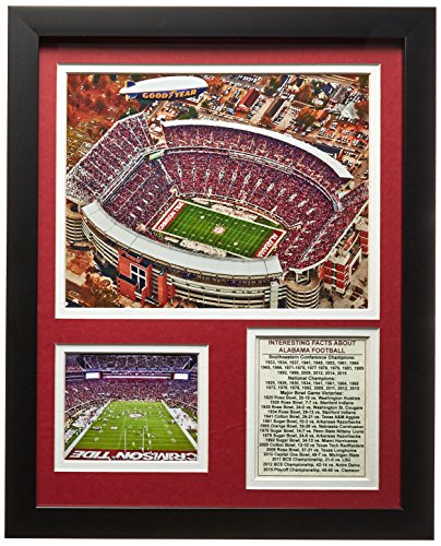 Legends Never Die University of Alabama Bryant-Denny Stadium Framed Photo Collage, 11 by 14-Inch