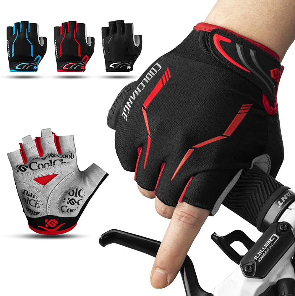 CoolChange Touch Screen Padded Cycling Gloves Full Finger MTB Bike Gloves Sports