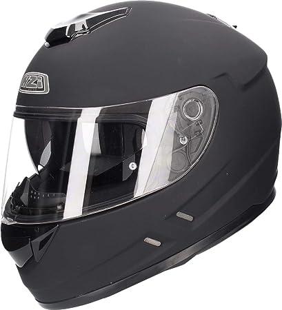 Amazon.es: NZI Casco de moto integral Symbio Negro Mate M ...
