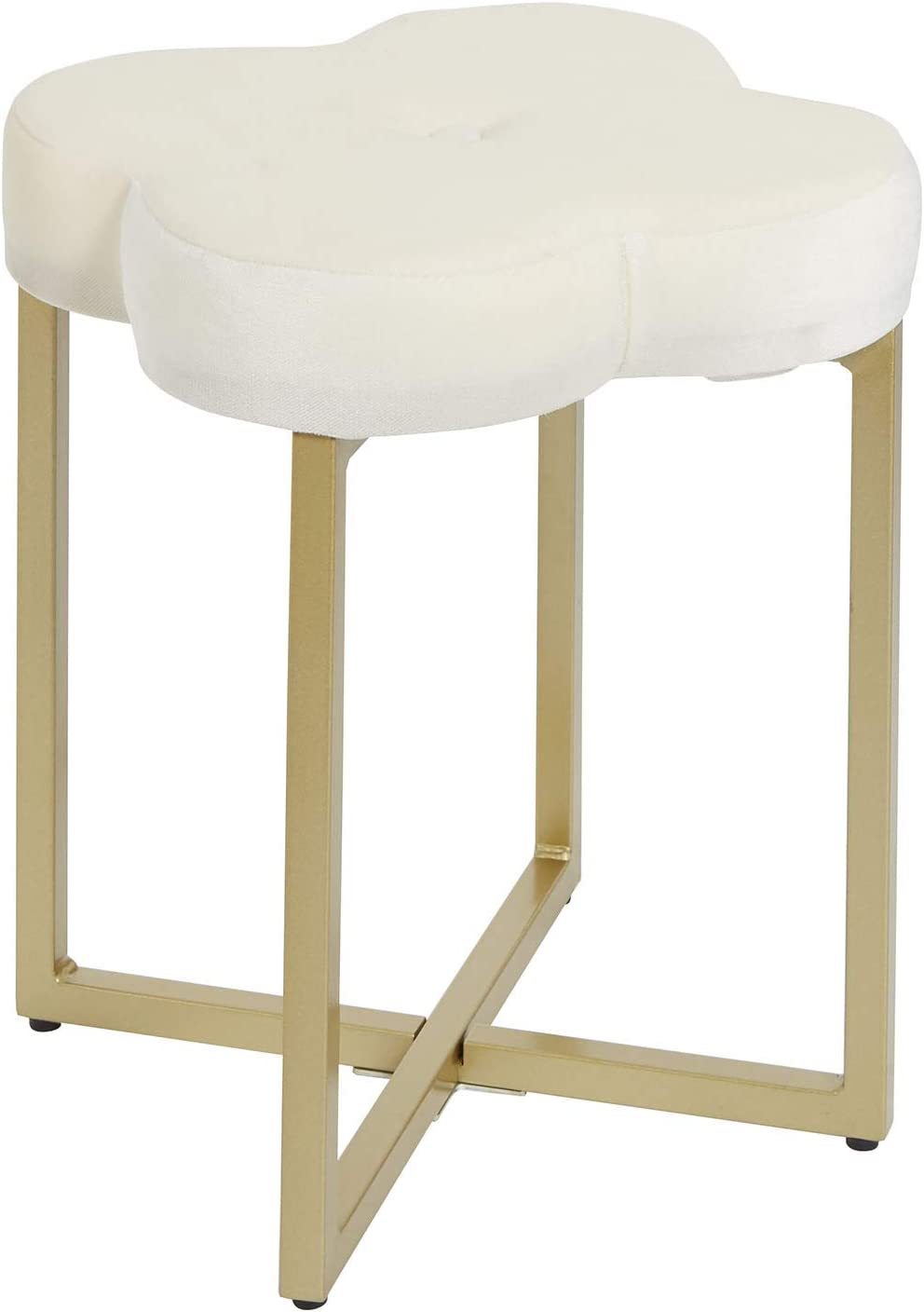 Silverwood Vanity Bench, Cream and Gold