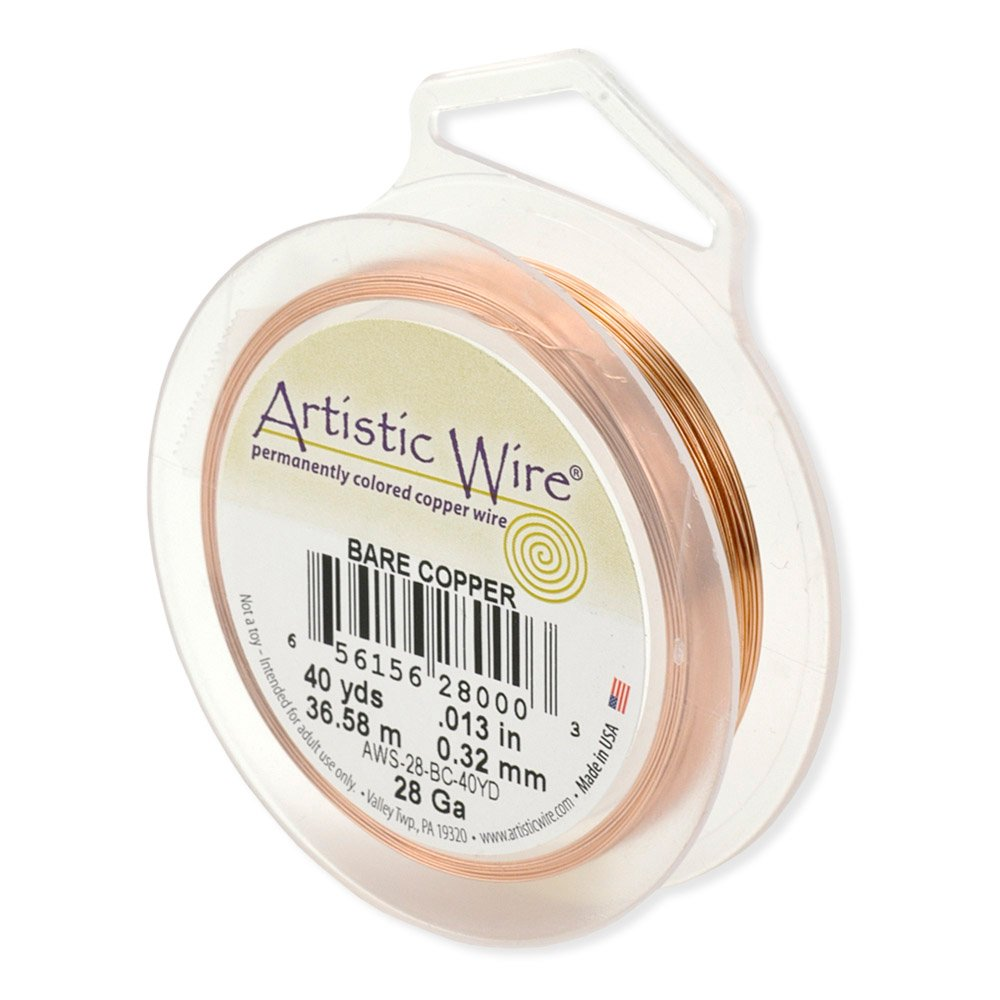 Artistic Wire 22-Gauge Bare Copper Wire, 15-Yards Beadalon AWS-22-BC-15YD
