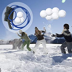 Lutingstore Water Balloon Launcher,Party Water Balloons Slingshot Cannon 3 People Launcher,Made of Oxford and latex-Outdoor Water Toys For Kids and Adults,Water Bomb Slingshot Set(Launcher+Balloons)