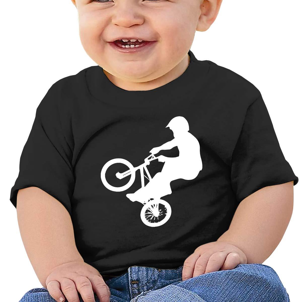 BMX Baby Boys Girls Short Sleeve Crewneck T-Shirt 6-18 Month Tops