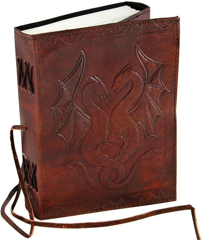 Hecho a mano cuero diario diario Notebook), con Vacío