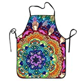 Animal Mandala Adjustable Apron For Kitchen BBQ Barbecue Cooking Women's Men's Great Gift For Wife Ladies Men Boyfriend