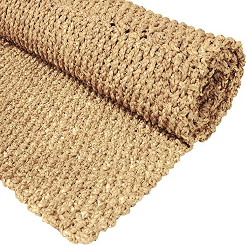 Oriental Furniture 2' x 3' Woven Rush Grass Area Rug - Natural