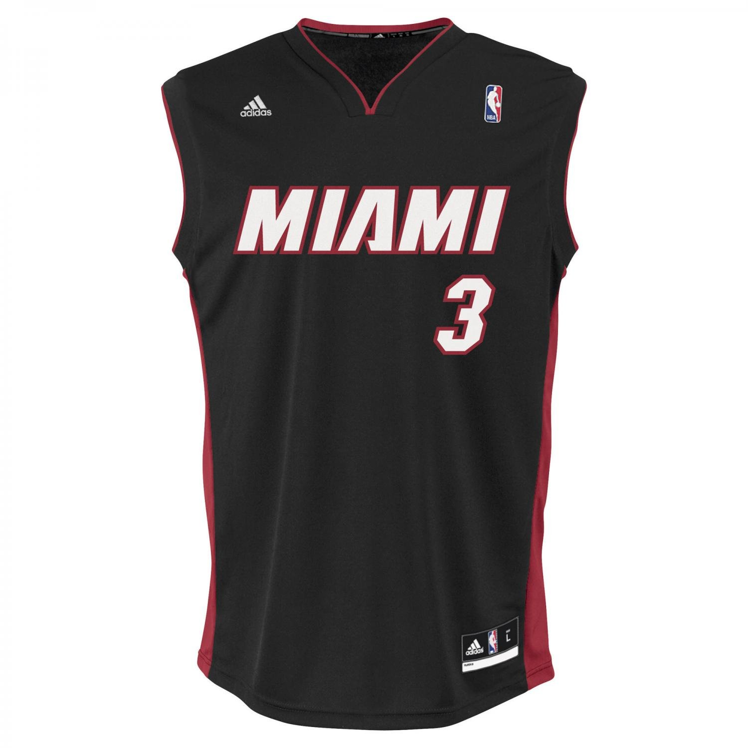 adidas Herren Trikot International Miami Heat Dwyane Wade Replica