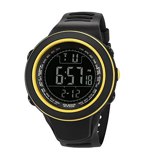 Dylung Reloj Deportivos para Hombre Men Reloj de Pulsera Popular Relojes de Hombres de Moda con Cuarzo Japonés Led Inteligente Digital Correa de Silicona ...