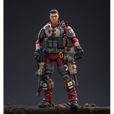 JoyToy 1/18 Soldier Action Figures US Marine Corps Anime Figure Collection Modern Military Model Dark Source Toys (Red): Toys & Games