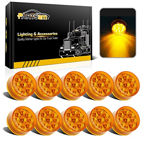 Partsam 10Pcs Amber 9 LED Light Trailer 2