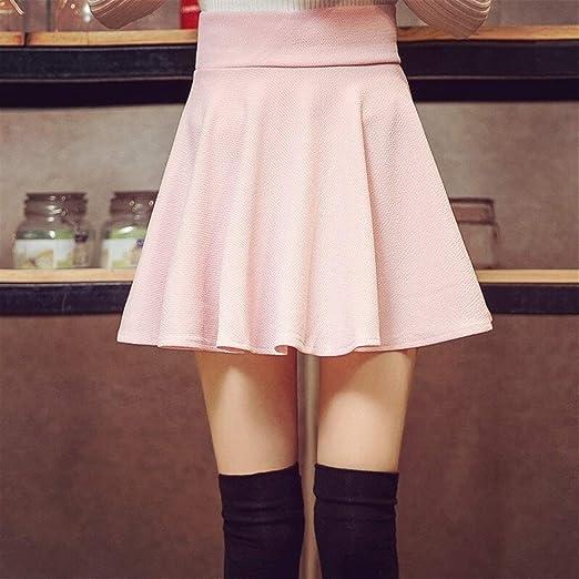 LUOSI Falda cómoda Mini Faldas de Cintura Alta Mujeres Blancas ...