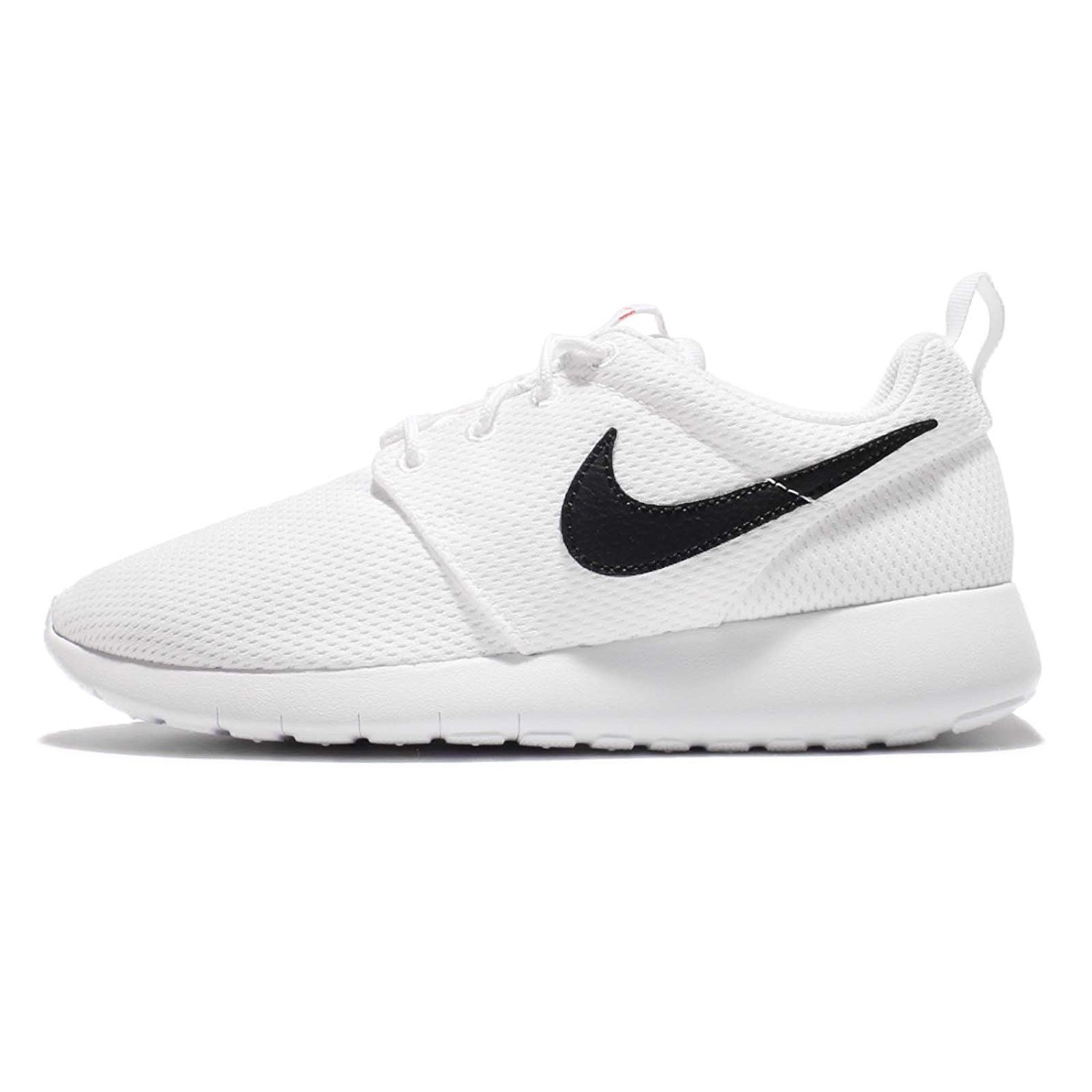 Nike Kid's Roshe One GS, WHITE/BLACK-SAFETY ORANGE, Youth Size 4 by NIKE