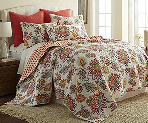 Palladian Bedroom Set Palladium Coral Fullqueen Quilt Set