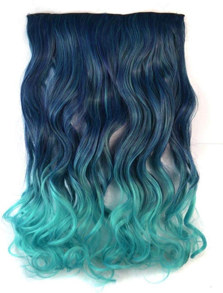 Peluca femenina de una pieza de pelo largo y rizado color de ...