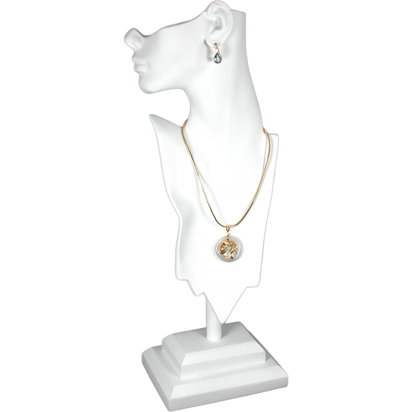 White Mannequin Necklace Bust Jewelry Display 20 New TH-PB18W