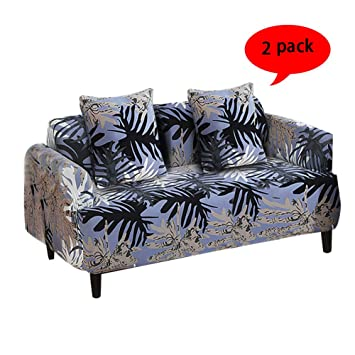 Strange Aibixi Stretch Sofa Slipcover Printed Sofa Cover Spandex Fabric Couch Covers Stylish Furniture Shield Protector 54 70 Loveseat Hawaii Andrewgaddart Wooden Chair Designs For Living Room Andrewgaddartcom