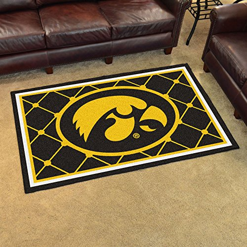 Iowa Hawkeyes NCAA Floor Rug (4'x6') by Fanmats