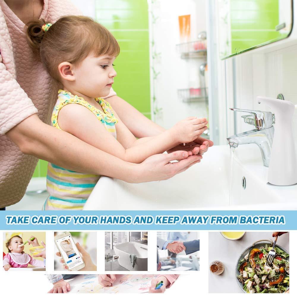 FOXNSK Distributore di Sapone Automatico Mano Automatico Touchless Sensore a Infrarossi Dispenser di Sapone per Bagno Cucina Compatibile per Mano Sanitiser 200ML