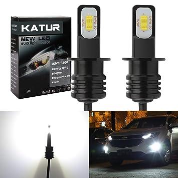 KaTur H3 Bombillas para Luces antiniebla LED Extremadamente Brillantes 2400 lúmenes Máx. LED de Alta