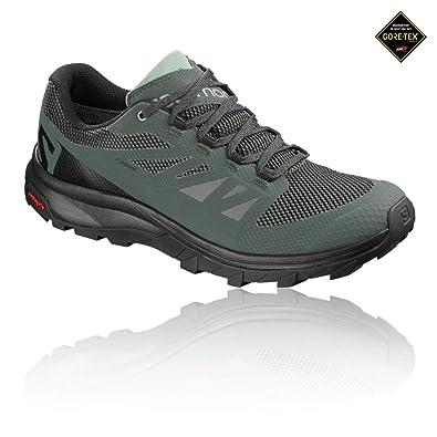 Salomon Outline GTX Hiking Shoes - Men s Urban Chic Black Green Milieu 7 85d11e6a8
