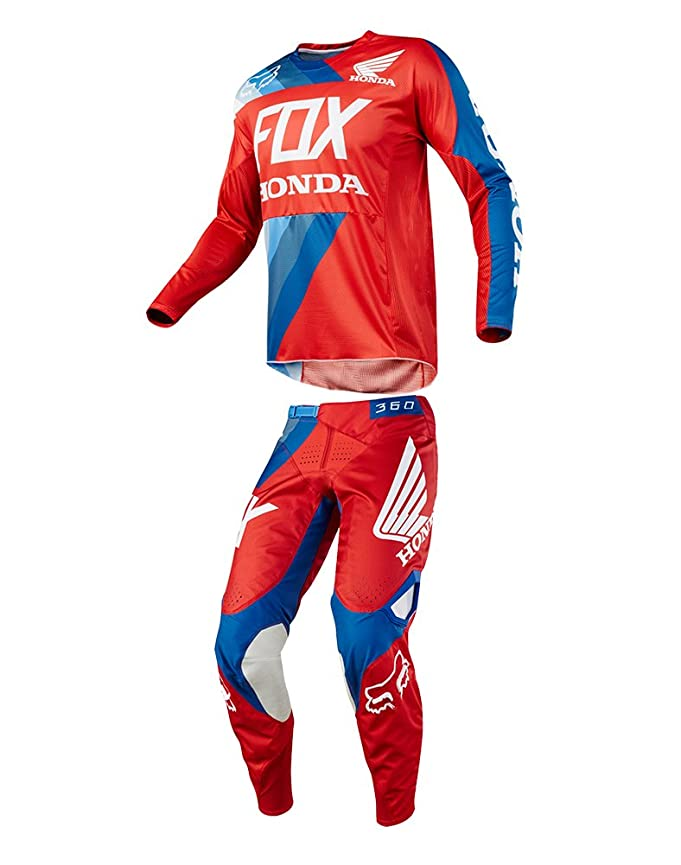Amazon.com: Fox Racing 2018 360 Honda Combo Jersey Pants Red Adult Mens ATV Dirtbike Offroad Motocross Riding Gear Red: Automotive