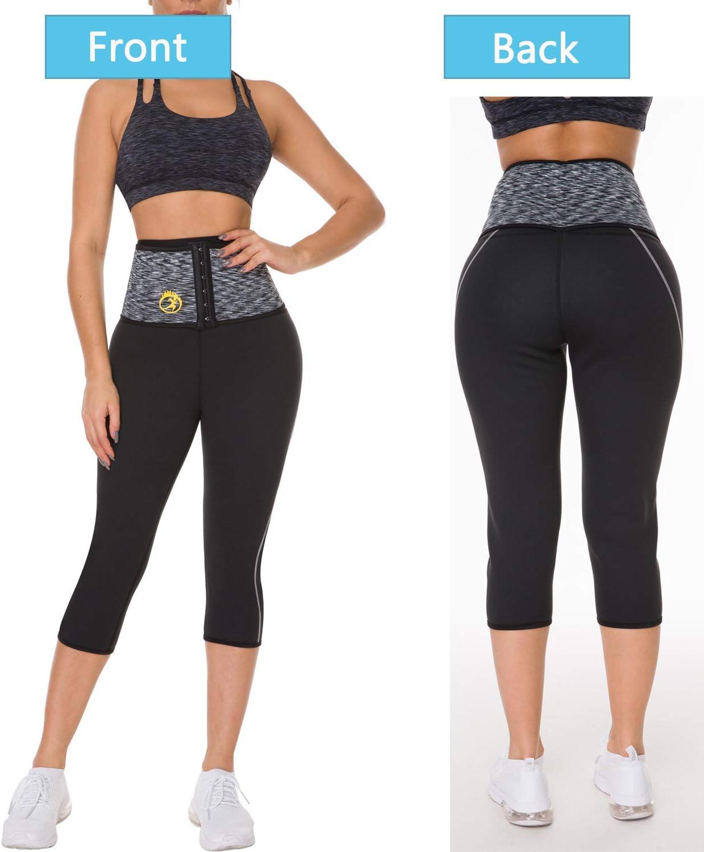 Body Shaper Neopren-Komfortable Fitnessraum Sauna Hose Figurformende Capri Yoga Hose Sporthose FitnesshoseS MQSS Schwitzhose Zum Abnehmen