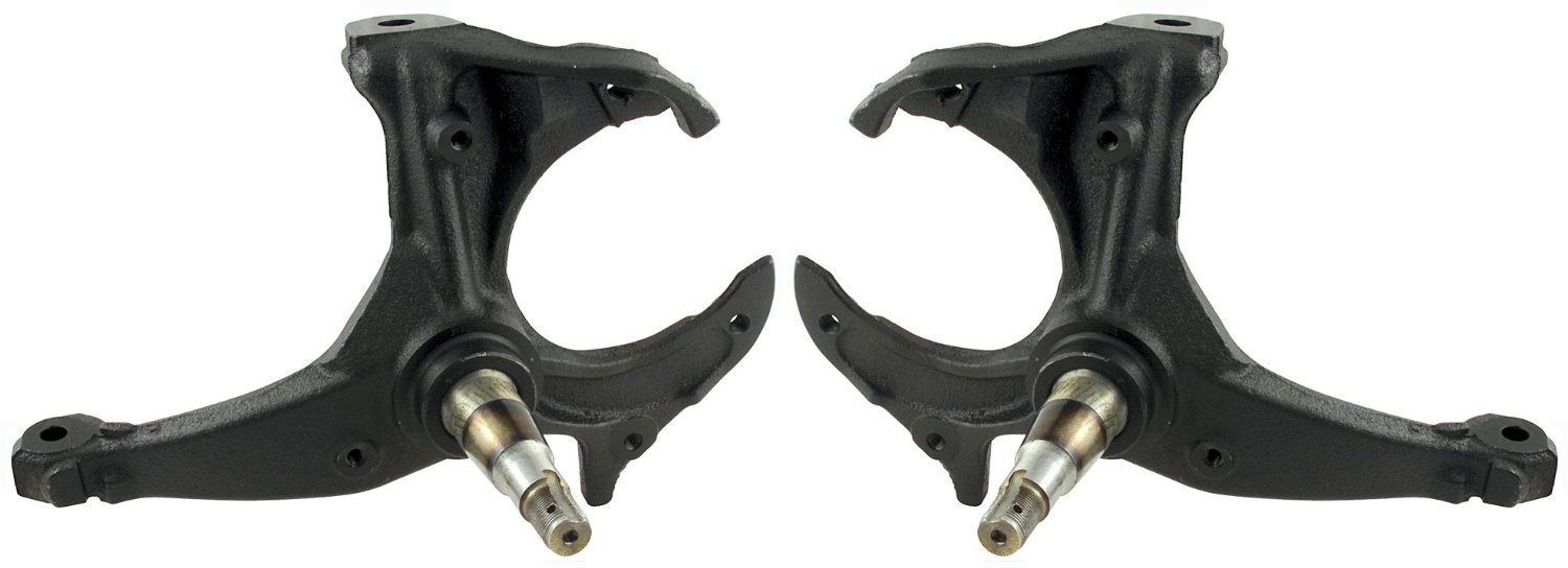 NEW SOUTHWEST SPEED STOCK-REPLACEMENT SPINDLES, 1979-1987 GM A-BODY, 1982-1997 S10 PICKUP AND BLAZER, EL CAMINO, MALIBU, MONTE CARLO, CENTURY, GRAND NATIONAL, REGAL, GMC SPRINT, S15 JIMMY, CUTLASS, LEMANS, GRAND AM, GRAND LEMANS, GRAND PRIX, SAFARI, BONNE