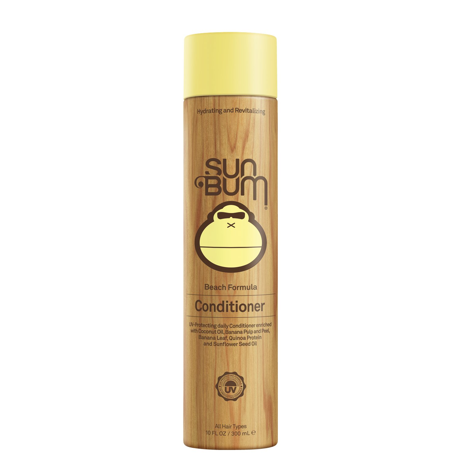 Sun Bum Beach Formula Revitalizing Conditioner, 10 oz. Bottle, 1 Count, UV Protection for Hair, Smoothing and Shine Enhancing, Paraben Free, Gluten Free, Vegan