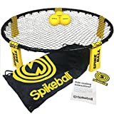 Bucket Ball Best Deals - Spikeball Combo Meal - As Seen On Shark Tank TV - 3 Ball Set, Drawstring Bag, And Rule Book