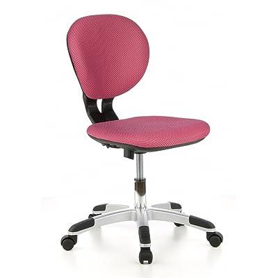 Hjh OFFICE 670200 Chaise De Bureau Enfant BILLY KID Rose Sans Accoudoirs Dossier Ergonomique Rglable En Hauteur Tissu Maille 3D